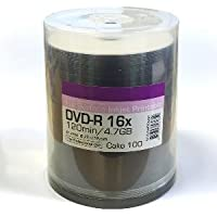Ritek 'Excellence Series' Blank DVD-R 16x Full Face White Inkjet Printable 100 Spindle