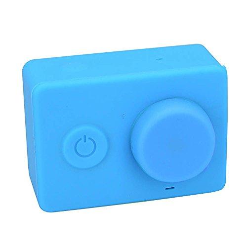 Preisvergleich Produktbild Weiche Silikon-Kasten-Haut mit Objektivabdeckung für XIAOMI Yi-Action-Kamera Blau