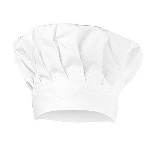 MoGist bianco cappello da cuoco chef cappello bambini elastico personalizzato party cucina Barbecue Baker Cooking chef cappello per bambini