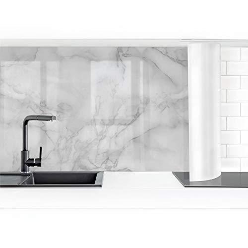 Bilderwelten Küchenrückwand Folie selbstklebend Marmoroptik Schwarz Weiß 70 x 200 cm Premium