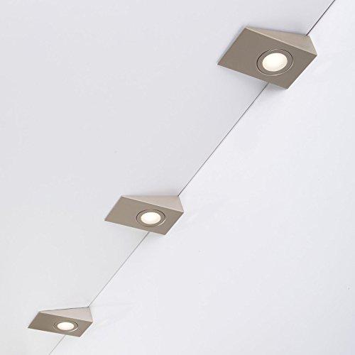 Juego 3 x SO-TECH® Luz curadrado LED debajo mueble