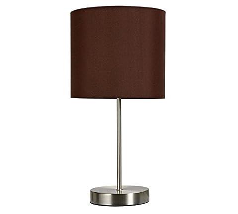 Ideal Design Chocolate Color Satin Stick Stylish Lamp