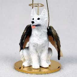 1 X German Shepherd Angel Dog Ornament - White by Conversation Concepts -