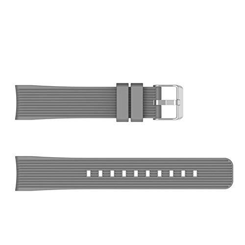 mAjglgE Vertical Stripes Armband aus Silikonarmband für Samsung Galaxy Watch Active Grey Samsung Stripe