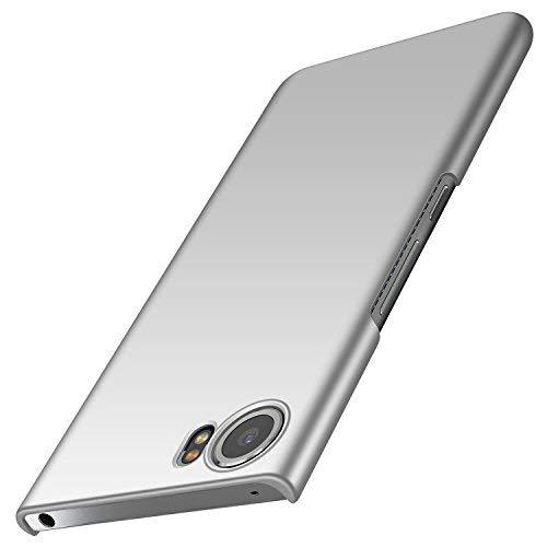 anccer BlackBerry Keyone Hülle, [Serie Matte] Elastische Schockabsorption und Ultra Thin Design für Keyone (Glattes Silber)