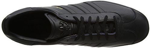 adidas Unisex-Erwachsene Gazelle Low-Top Schwarz (Core Black/core Black/gold Metallic)
