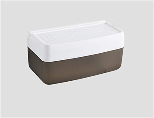 LAOLIU Tissue-Box fürs Bad, wasserdichtes, wasserdichtes Wand-Tablett, braun