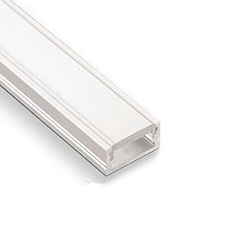 3 Stück SO-TECH® LED Profil-11 mit opalfarbiger Abdeckung je 2m für LED Streifen
