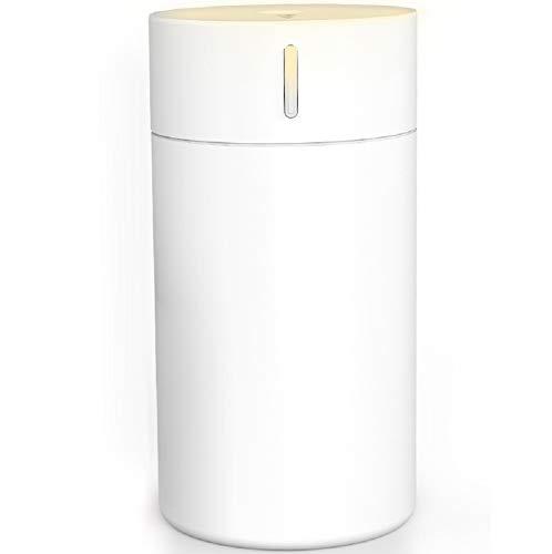 WJP Nebelbefeuchter, Auto aus, Zuhause, Stummschaltung, Aromatherapiemaschine , Mini , Nachtlicht , Reinigung , Auto USB-Luftbefeuchter , Timing,Weiß,cm