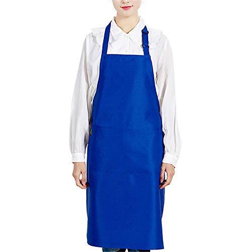 Stück Kostüm Pizza - YXDZ (2 Stücke Schürze Mode Küche Sommer Dünne Herren Overalls Grill Pizza Damen Wasserdicht Ölbeständig Taille Blau