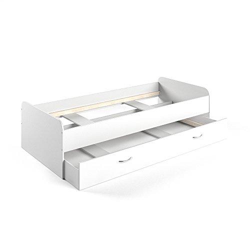 *VICCO Kojenbett Bett Enzo Jugendbett mit Gästeliege Funktionsbett in weiß 90×200 cm (weiß)*
