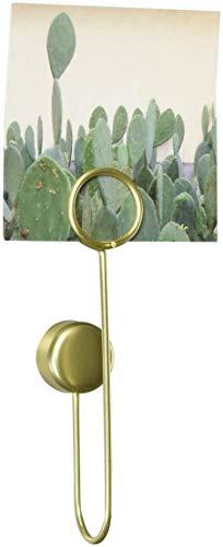 UMBRA Phantom clips. Lot de 6 petits porte-photos adhésifs Phantom, en métal doré. 10cm de haut et écartement du mur de 2cm.