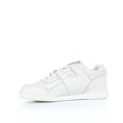 Basket Reebok Workout Plus Vintage en peau blanche Blanc