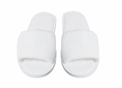 Pantofole in spugna luxury 10 pz - ciabatte hotel cortesia cotone monoutile