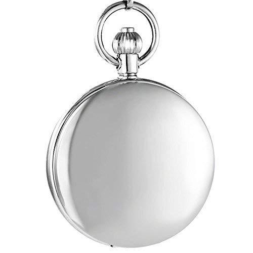 OGLE Wasserdichter Verzerrender Spiegel Tourbillon Phasen Sonne Mond Kette Fob Skelett Automatische Mechanische Taschenuhr