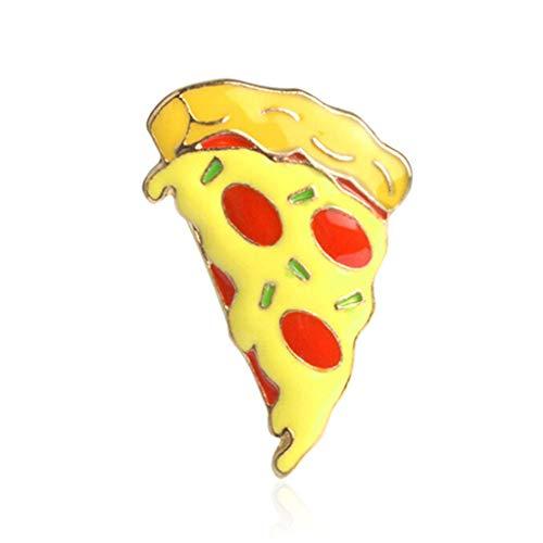 SEVENHOPE Niedlichen Cartoon Essen Abzeichen Brosche Revers Kragen Broschen Pin Schmuck Kleidung Zubehör (Pizza)