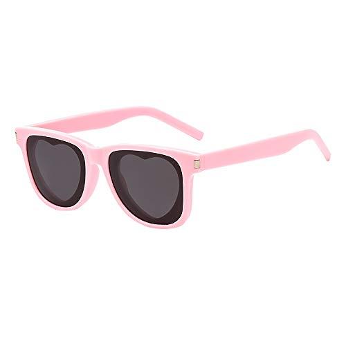 Battnot☀ Siamesische Sonnenbrillen für Damen Herren, Herz-Form-Rahmen Unisex Vintage Mode Anti-UV Gläser Schutzbrillen Männer Frauen Retro Billig Cat Eye Sunglasses Fashion Women Eyewear Eyeglasses