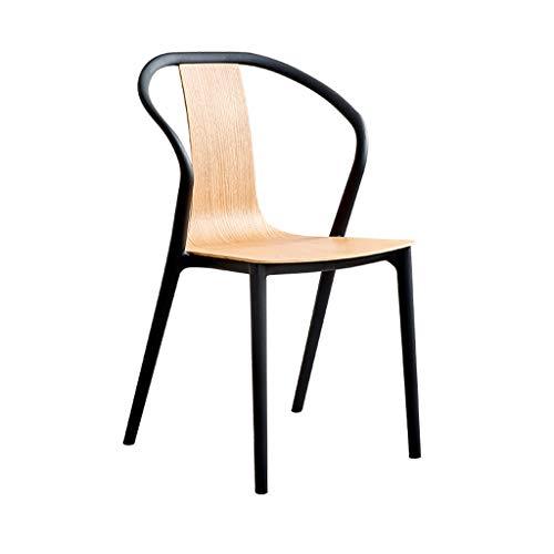 Sedia da pranzo adulti, creativo sedia da bar sedia europea con schienale sedia da ufficio plastica sedia reception sgabello da colazione, per cucina, ristorante, caffetteria, bar (44*42.5*91cm)