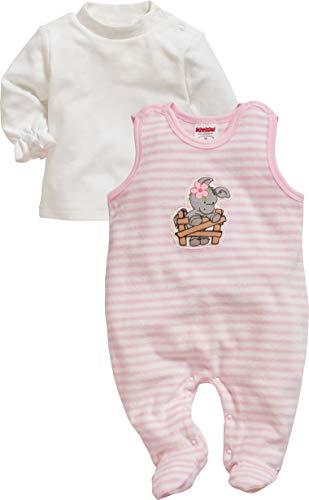 Schnizler Baby-Mädchen Set Nicki Ringel Esel Strampler, Rosa (Rosa 14), (Herstellergröße: 50)