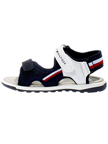 Tommy Hilfiger Kinder Schuhe Jungs Sandalen Velcro, Farbe:Weiß, Größe:EUR 31