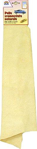 Pelle di daino scamosciata naturale per vetri e auto 35x50 cm