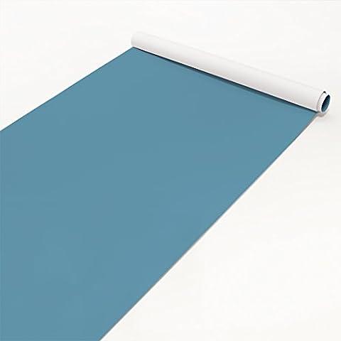Klebefolie blau-grau einfarbig - Meerblau - Folie selbstklebend, Dekorfolie, Bastelfolie, DIY, Designfolie, Sticker, Holzfolie, Glasfolie, Meterware