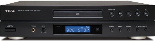 Teac CD-P1260 CD-Player mit Fernbedienung (CD-DA/R/RW, MP3)