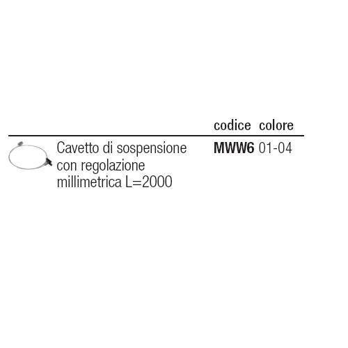 I GUZZINI ILLUMINAZIONE MWW604 - CAVO ACC.L=2000 C/ESTR.X SOSP.REGOL.X BINAR