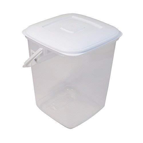 10L Lebensmittel Aufbewahrung Kanister Bpa Freies Plastik Wanne mit Deckel und Griff H30 X W24cm