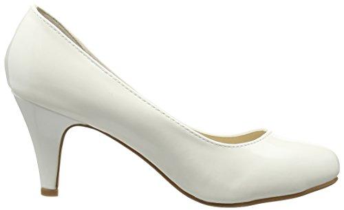 Topschuhe24–488 vernis escarpins femme Blanc - Blanc