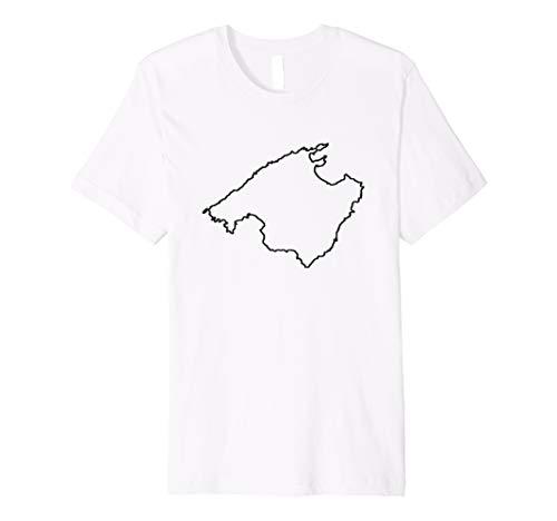 Malle Mallorca Karte T-Shirt Insel Liebe Umriss Geschenk