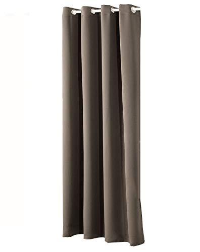 WOLTU #329, Gardinen Vorhang Blickdicht mit Ösen, 250g/m2 Schwerer Verdunkelungsvorhang Thermovorhang lichtdicht für Wohnzimmer Schlafzimmer Tür Winter 135x225 cm, Taupe