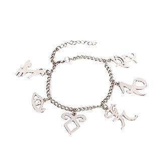 YIYIYYA Women'S Bracelet The Mortal Instruments City Of Inspired Symbols Bracelet Inspired Charms Bangle