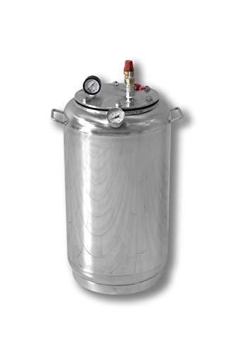Autoclav de Acero Inoxidable estándar, diseñado para la conservación de Productos domésticos, 32 Gläser 0,5 Liter Oder 21 Gläser 1 Liter