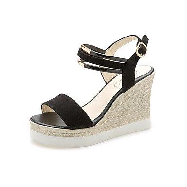 Zormey Damen Sandalen Feder Komfort Pur Outdoor Keilabsatz US6.5-7 / EU37 / UK4.5-5 / CN37
