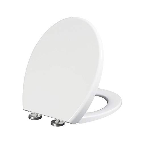 MYQ Sicherheitsrahmen WC-Sitz O, U-Form quadratischer WC-Deckel mit stummem Verdickungs-WC-Deckel für Badezimmer, Unterstützung ausgelöst (Color : K) -