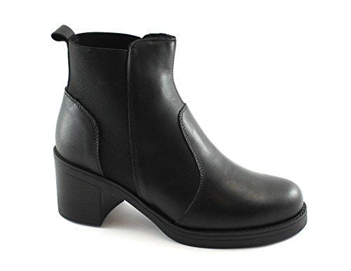 Igi&Co 88310 Chaussures Femme Noire Bottines de Peau Élastique Nero