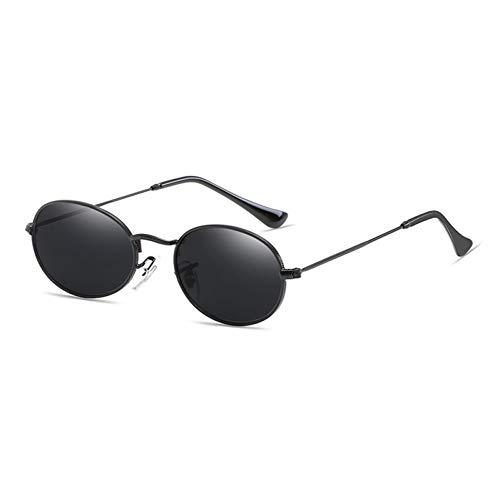 KCJKXC Runde Kreis Metall Sonnenbrille Männer Frauen Markendesign Sonnenbrille Retro Vintage Oval Sonnenbrille Spiegel Objektiv Hohe Qualität Uv400