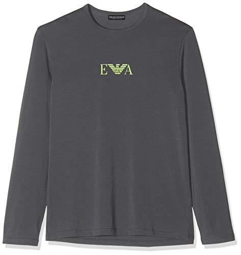 Emporio Armani Underwear Herren T Shirt Multipack Monogram Freizeithemd, Grau (Antracite 00044), X-Large (Herstellergröße:XL)
