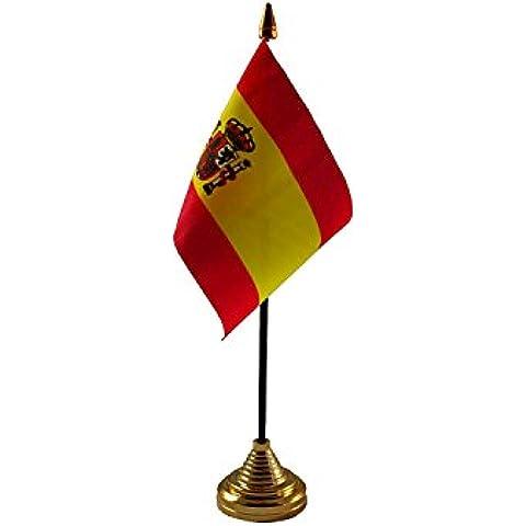 España con escudo de mesa bandera y base Fútbol