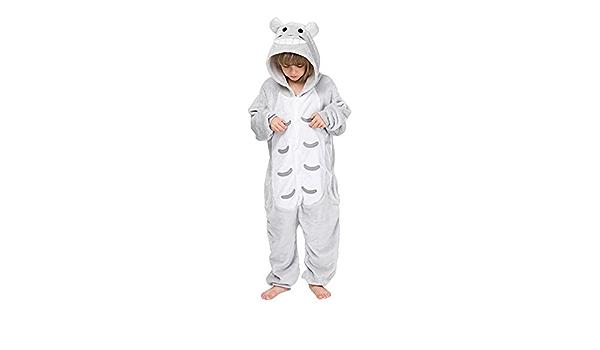 KIYOUMI Kids Unisex Onesies Pyjamas Flannel Animal Modeling Hooded Onesies Halloween Xmas Cosplay Party Clothing,giraffe,100CM