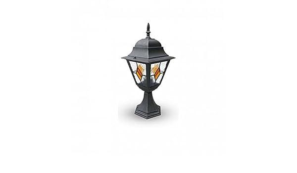 Paletto da giardino lanterna in alluminio e ip serie pisa