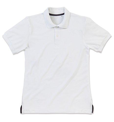 Stedman Original Premium Poloshirt für Herren 100% Baumwolle Piqué White