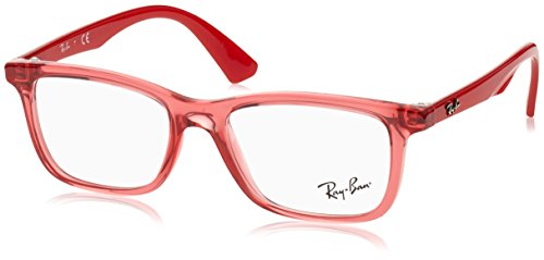 Rayban Unisex-Kinder Brillengestelle 0RY 1562 3687 48, Rot (Transparent Red)