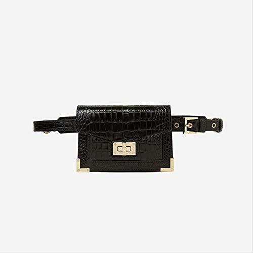Xshiyq Damen gürteltasche krokodil gürtel Handtasche pu Leder Vintage Strap Kette Taschen für eine größe schwarz -