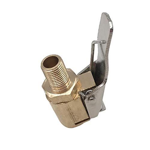 Sunnyushine Reifenfüller Mit Clip,Auto Air Pump Chuck Autoreifen Pneumatic Clique Connector Reifen Ventil Ventiladapter,für Luftdruckmesser Kompressor-Zubehör Luftpumpenadapter