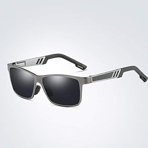 Polarisierte Sonnenbrille mit UV-Schutz Polarisierende treibende Fischerei-Sonnenbrille der Männer, bunter Film, Al-Mg-Metallrahmen. Superleichtes Rahmen-Fischen, das Golf fährt ( Farbe : Grau )
