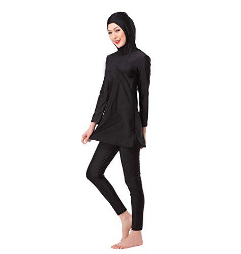 ckung muslimischen Badeanzug Bademode, Strandmode Islamische Hijab Schwimmen Kostüm für Mädchen, Schwarz, S (Full Schwimmen Kostüme Für Mädchen)