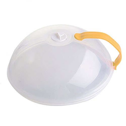 Tapa de microondas con asa, tapa de plato de alimentos, cubierta de sellado de calefacción, protección antisalpicaduras para cocina
