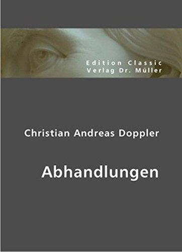 Christian Andreas Doppler: Abhandlungen